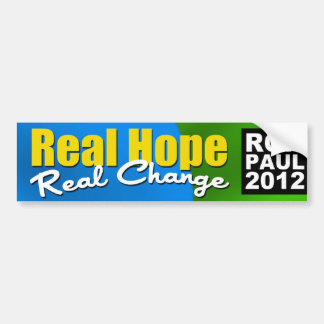 Real Hope Real Change Bumper Sticker