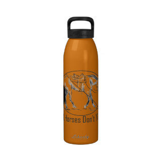 Real Horses Don t Trope Western Pleasure Design Reusable Water Bottle
