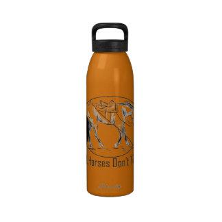 Real Horses Don't Trope Western Pleasure Design Reusable Water Bottle