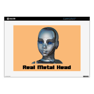 "Real Hot Metal Head 15"" Laptop Decal"
