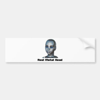 Real Hot Metal Head Bumper Sticker