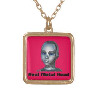 Real Hot Metal Head Gold Plated Necklace