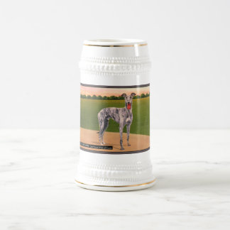 REAL HUNTSMAN Famous Greyhound Dog Beer Stein