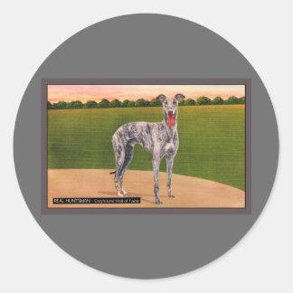 REAL HUNTSMAN Famous Greyhound Dog Classic Round Sticker