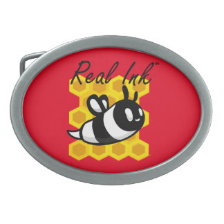 Real Ink™ Brand Bee Hive Red Belt Buckle