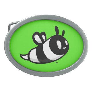 Real Ink™ Brand Cartoon Bee Green Belt Buckle