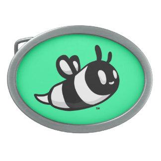 Real Ink™ Brand Cartoon Bee Teal Belt Buckle