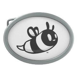 Real Ink™ Brand Cartoon Bee White Belt Buckle