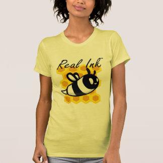 Real Ink™ Cartoon Bee Honeycomb T Shirt