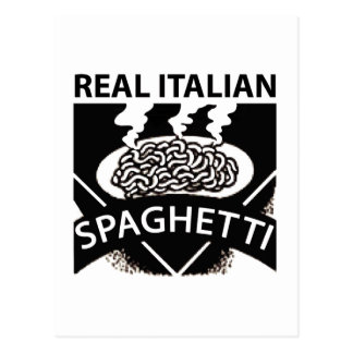 Real Italian Spaghetti Postcard