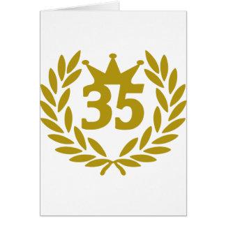real-laurel-corona 35 tarjeta de felicitación
