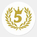 real-laurel-corona 5 etiqueta redonda