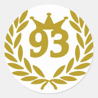 real-laurel-corona 93 etiqueta redonda