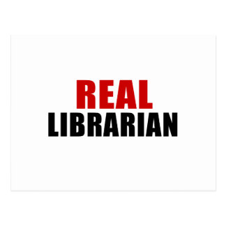 REAL LIBRARIAN POSTCARD