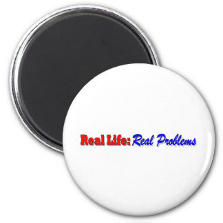Real Life - blue 2 Inch Round Magnet