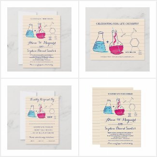 Real Life Chemistry Wedding Suite in Pink & Blue