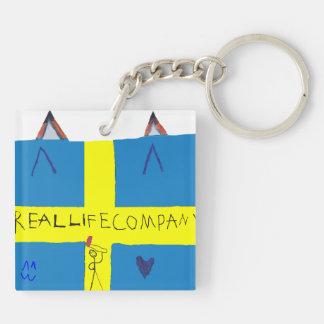 REAL LIFE Company LOGA Nyckelring Keychain