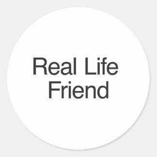 Real Life Friend Round Sticker