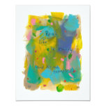 Real life is messy. (And it's not televised.) art 4.25x5.5 Paper Invitation Card