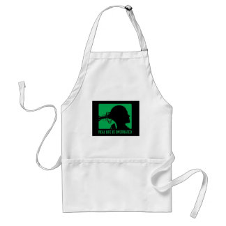 Real Life Is Overated Adult Apron