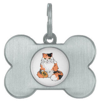 Real Life Lucky Cat Pet Tag
