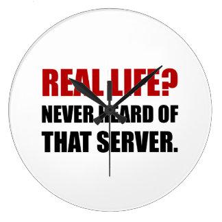 Real Life Never Heard Server Large Clock