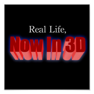 Real Life, Now In 3D! Poster