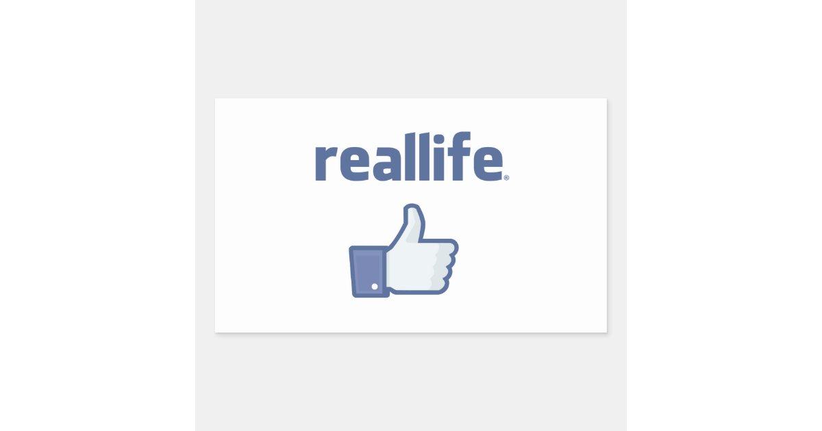 real life rectangular sticker zazzle