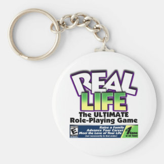 Real Life RPG Basic Round Button Keychain
