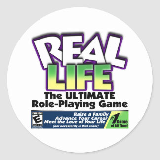 Real Life RPG Classic Round Sticker