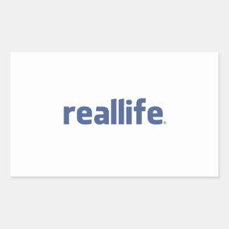Real Life Rectangular Sticker