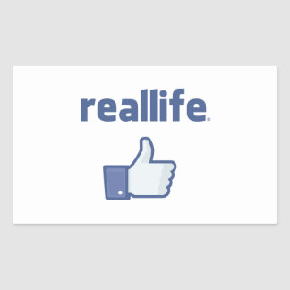 Real Life Rectangle Sticker