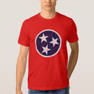 Real Life Tennessee State Flag Grunge Nashville T-shirt
