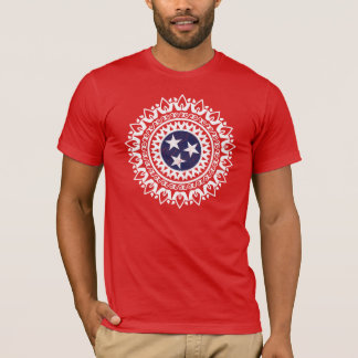 Real Life Tennessee State Flag pattern Sweet Home T-Shirt