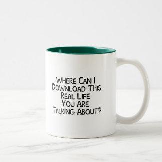 Real Life Two-Tone Coffee Mug