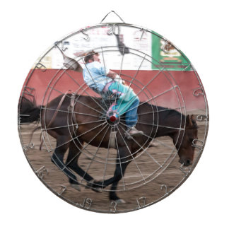 Real Live Cowboy Dartboard With Darts