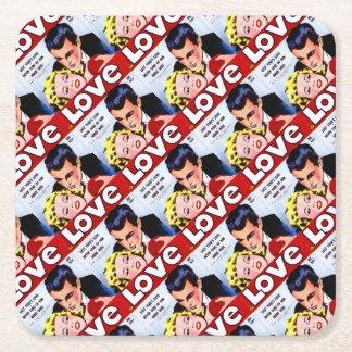 Real Love Square Paper Coaster