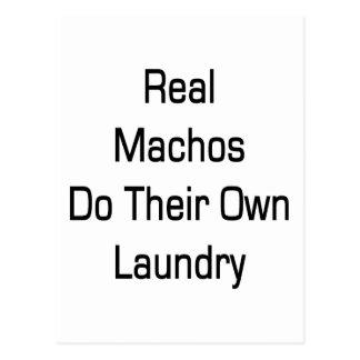 Real Machos Do Their Own Laundry Postcard