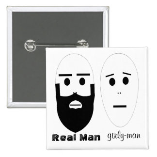 Real Man Pinback Buttons