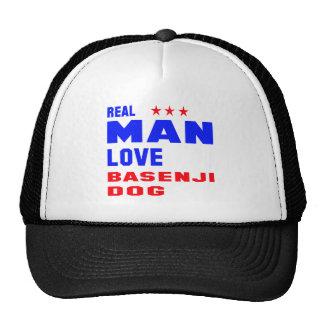 Real man love Basenji dog Trucker Hat
