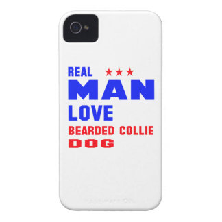 Real man love Bearded Collie dog iPhone 4 Covers