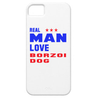 Real man love Borzoi dog iPhone 5 Cases