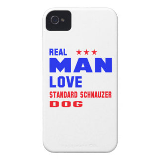 Real man love Standard Schnauzer dog iPhone 4 Cover
