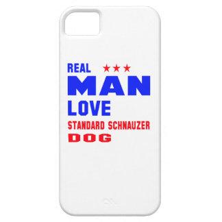 Real man love Standard Schnauzer dog iPhone 5 Cases