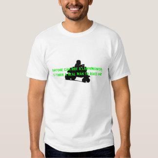 Real Man Mower Lawnmower Racing Tee Shirt