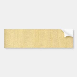 Real Maple Veneer Woodgrain Bumper Sticker