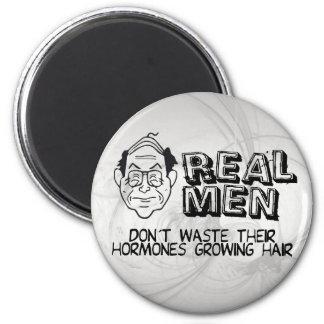 Real Men 2 Inch Round Magnet