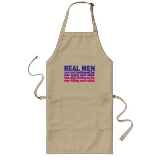 Real Men apron - choose style & color