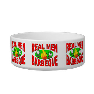 Real Men Barbeque. Funny Design for The BBQ King. Bowl