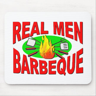 Real Men Barbeque. Funny Design for The BBQ King. Mouse Pad